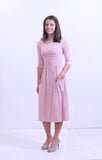 Ellen Striped Midi Dress