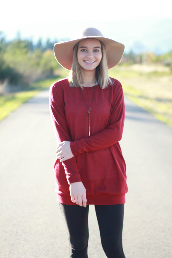 Hidden Pocket Tunic Sweater
