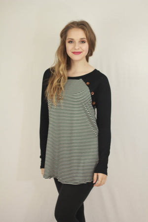 Striped Color Block Tunic