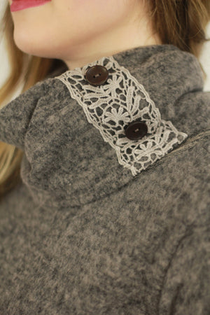 Crochet Detail Sweater