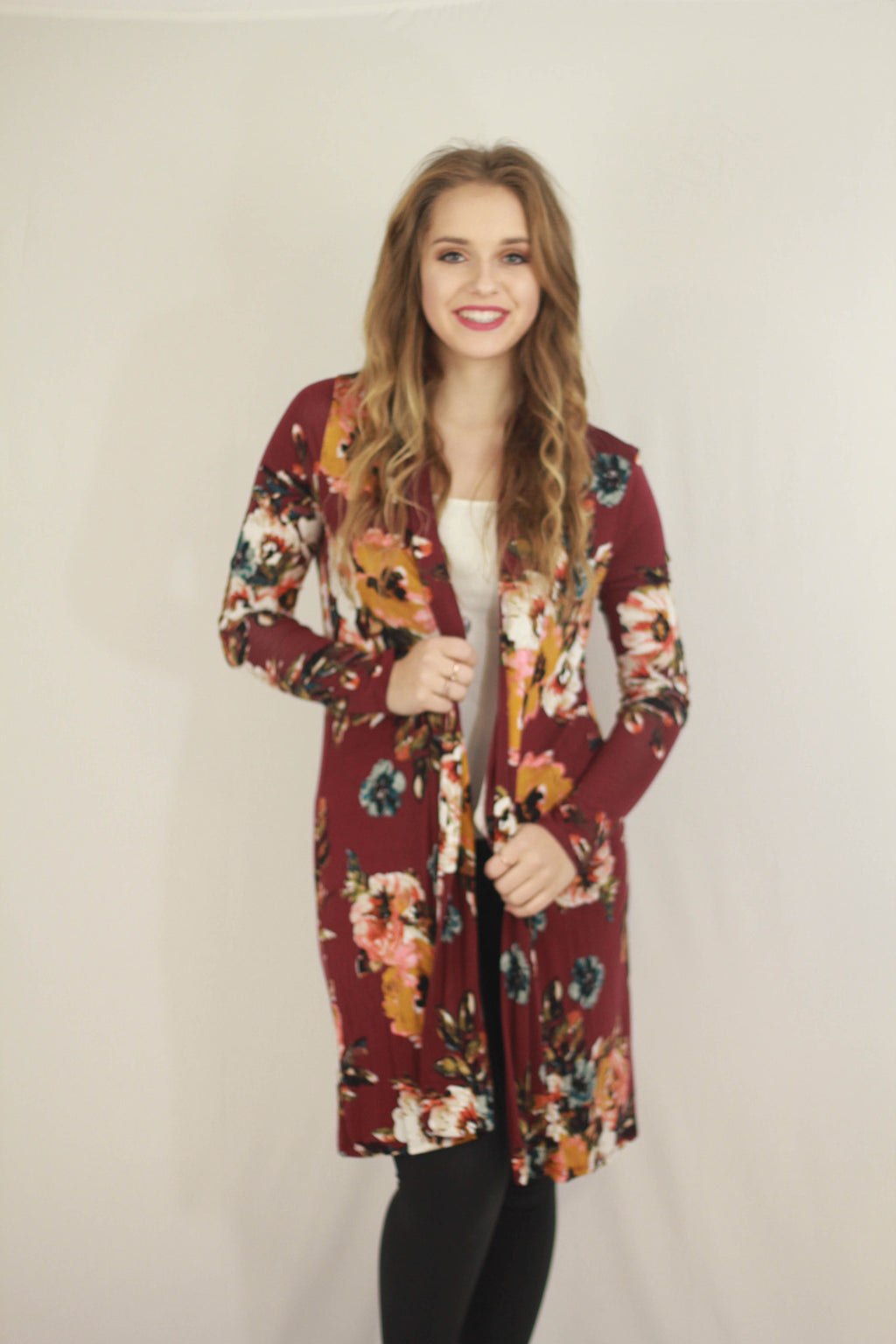 Floral Elbow Patch Cardigan