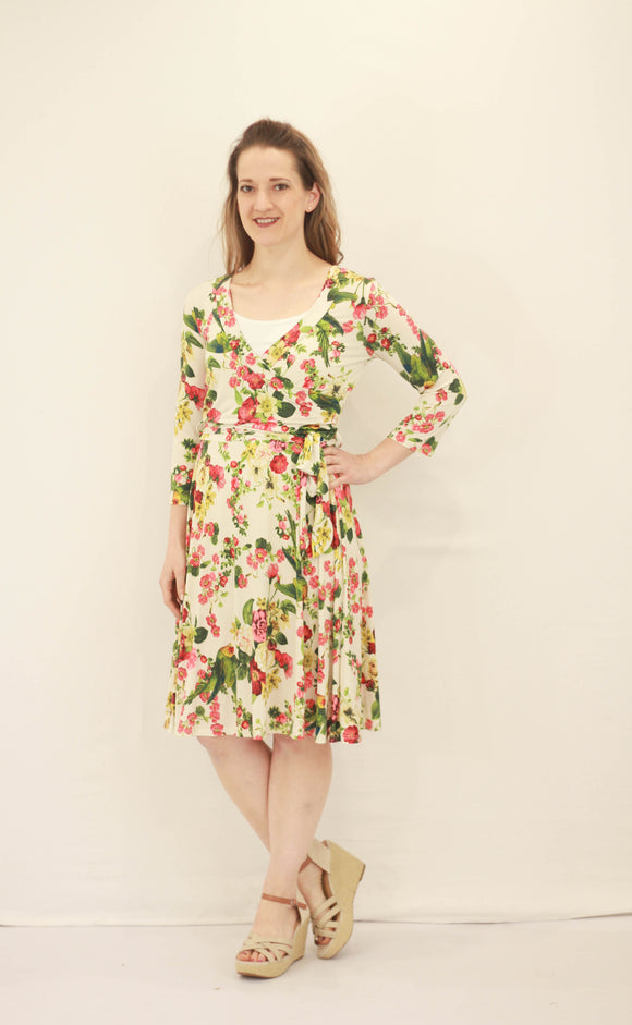 Jenny Floral Wrap Dress