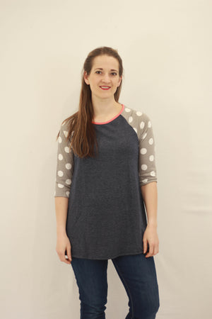 Polka Dot Baseball Tunic