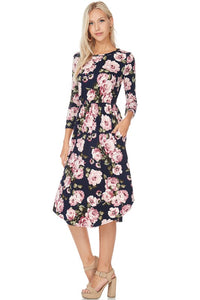 Natalie Floral Fit & Flare Dress