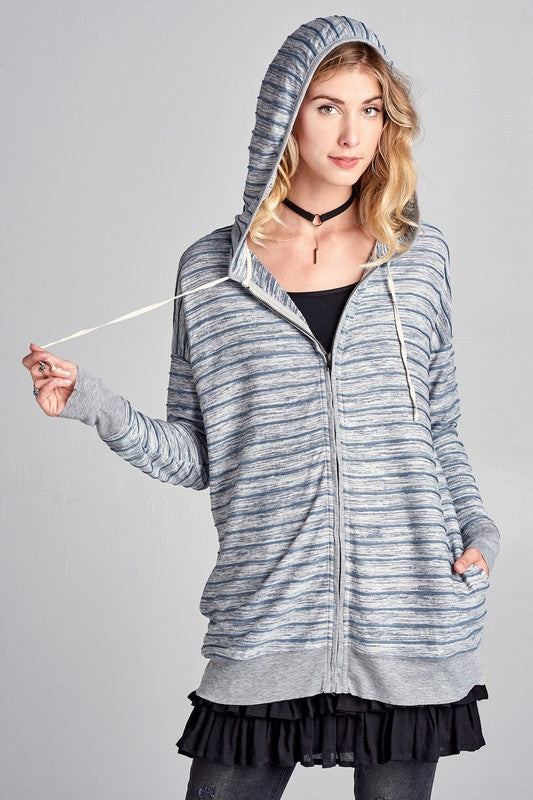 Striped Hooded Jacket