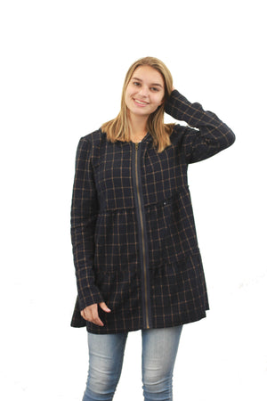 Plaid Ruffle Jacket
