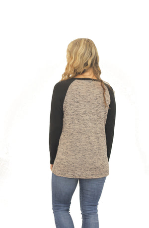 Raglan Sleeve Sweater Tunic