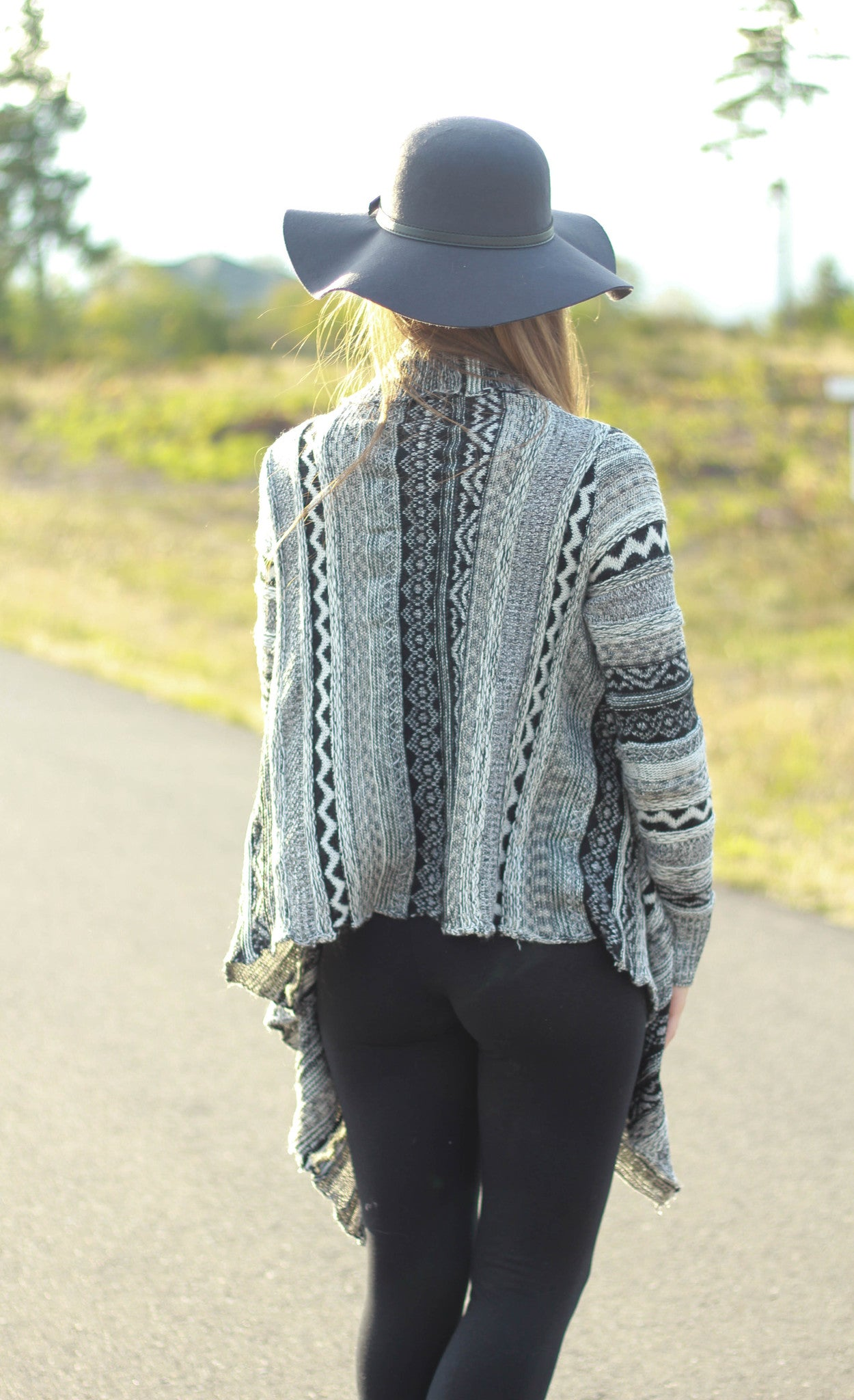 Draped Cardigan Sweater