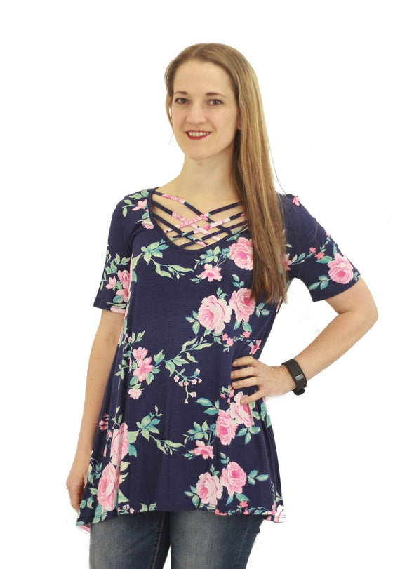 Kasey Floral Tunic