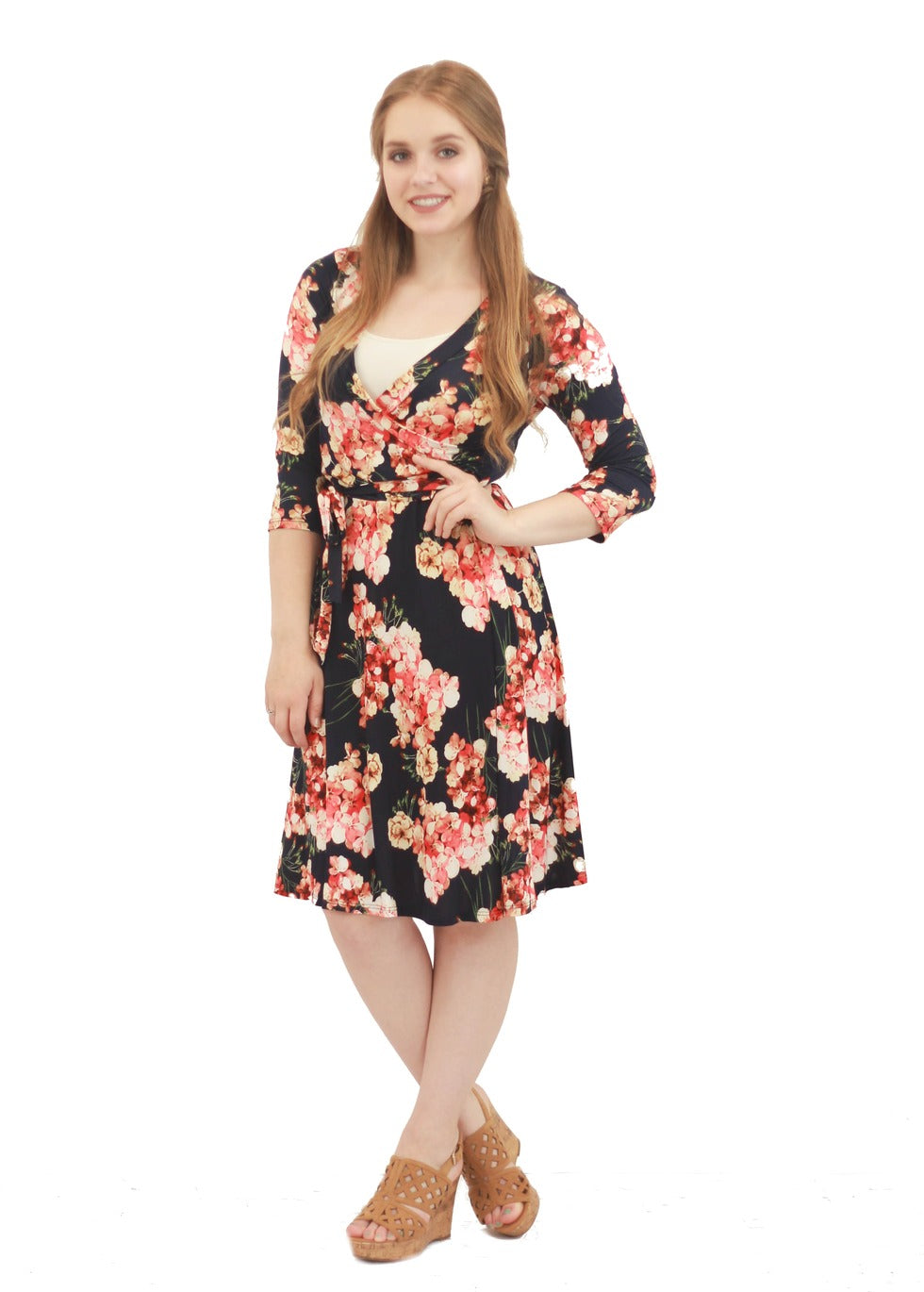 Hallie Floral Wrap Dress
