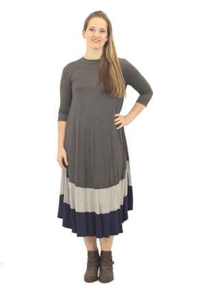 Color Block Swing Dress - Final Sale