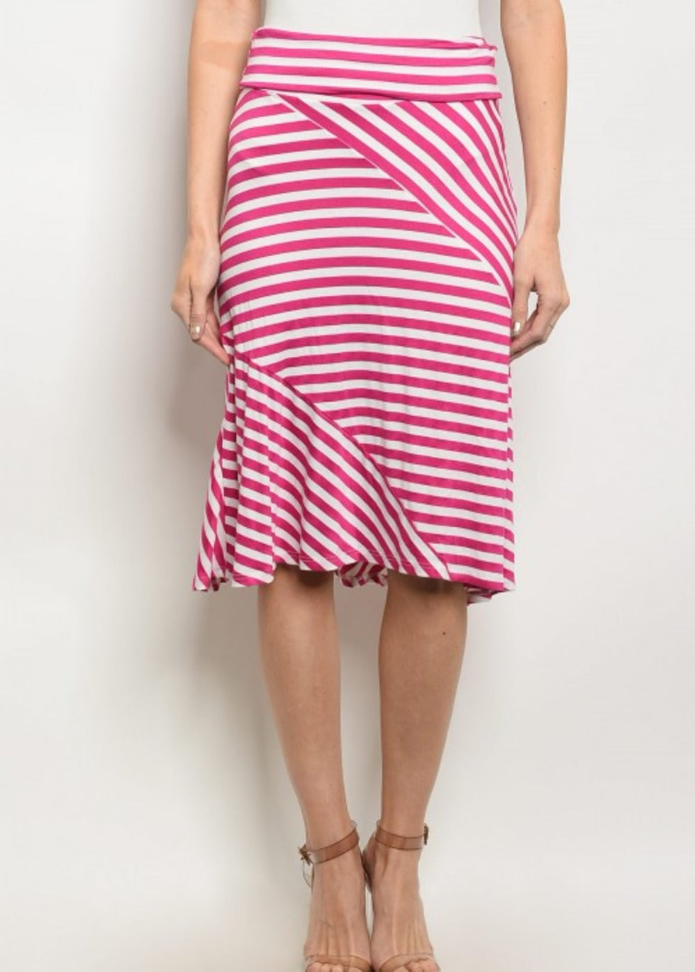 Helen Striped Skirt