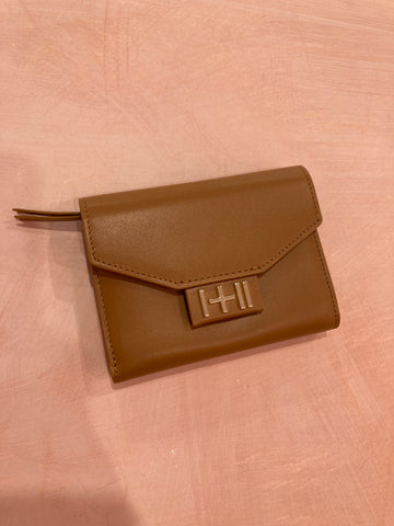 The Helena Wallet Tan, Light Gold