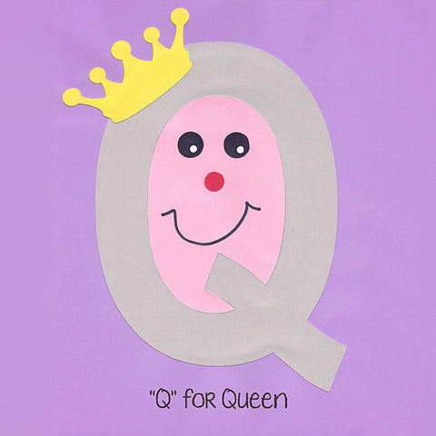 Alphabet Art Template - Upper Q (Queen)