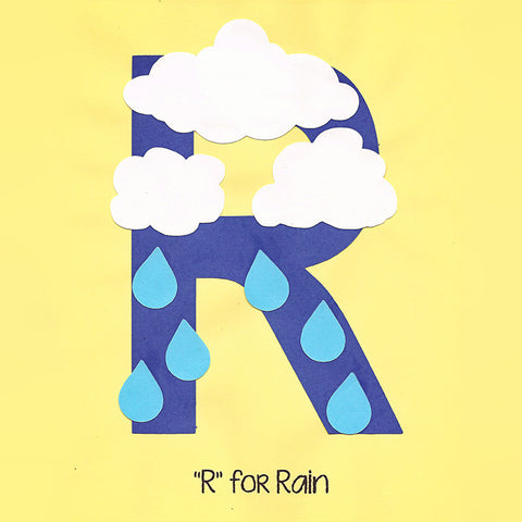 Alphabet Art Template - Upper R (Rain)