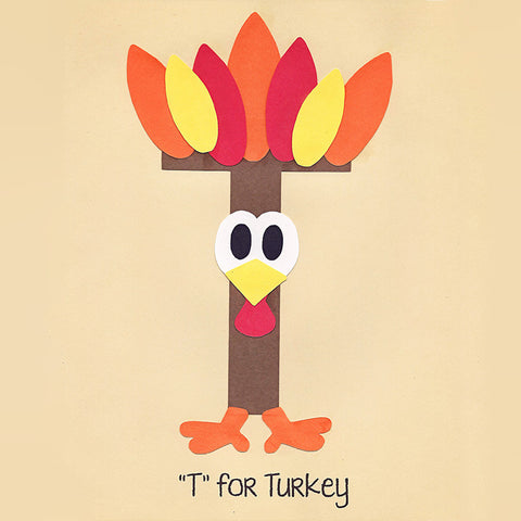 Alphabet Art Template - Upper T (Turkey)