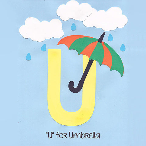 Alphabet Art Template - Upper U (Umbrella)