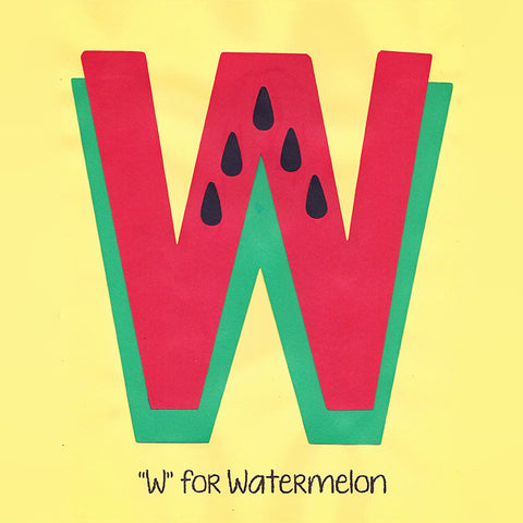 Alphabet Art Template - Upper W (Watermelon)