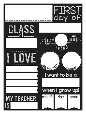 First Day of School Poster (Download)