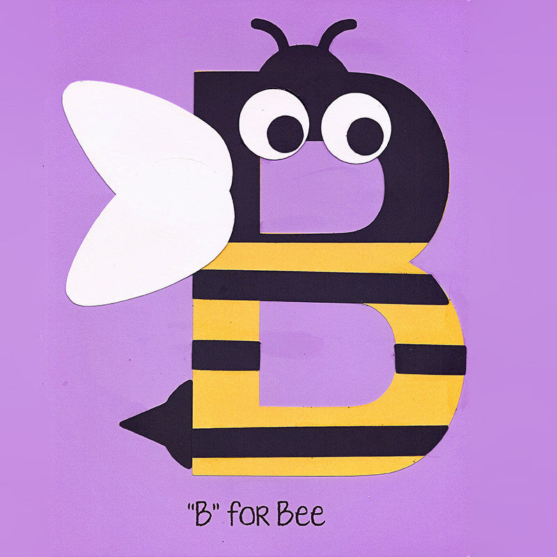 alphabet art template upper b bee who arted
