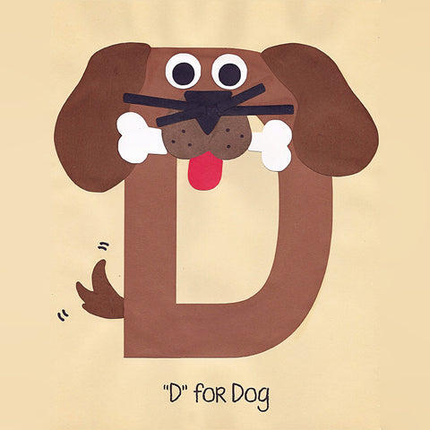 Alphabet Art Template - Upper D (Dog)