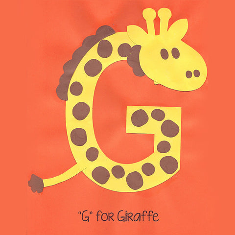 Alphabet Art Template - Upper G (Giraffe)