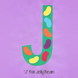 Alphabet Art Template - Upper J (Jelly Beans)