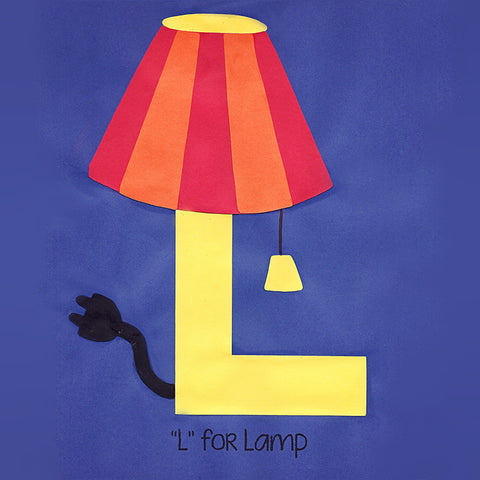 Alphabet Art Template - Upper L (Lamp)