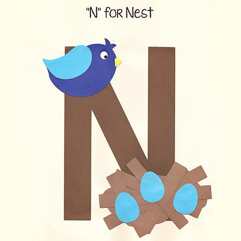 Alphabet Art Template - Upper N (Nest)