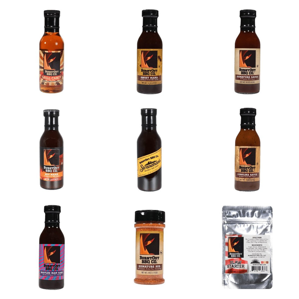 BurntOut BBQ Sampler 9-Pack - BurntOut BBQ Co.