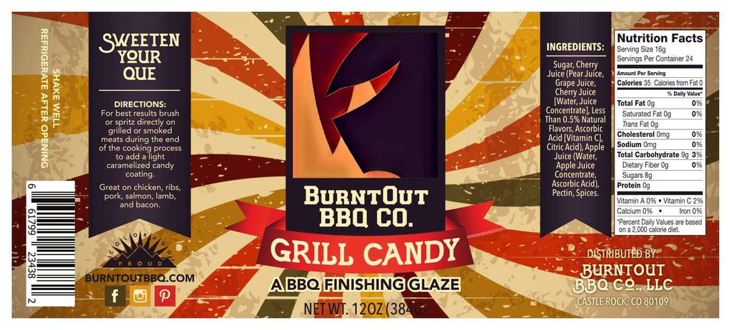 Grill Candy BBQ Glaze - BurntOut BBQ Co.