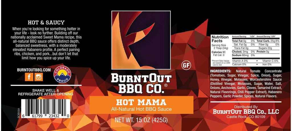 Hot Mama Spicy BBQ Sauce - BurntOut BBQ Co.