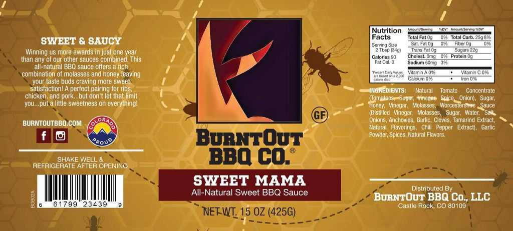 Sweet Mama All-Natural BBQ Sauce - BurntOut BBQ Co.