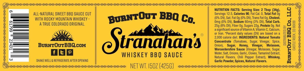 Whiskey BBQ Sauce - BurntOut BBQ Co.