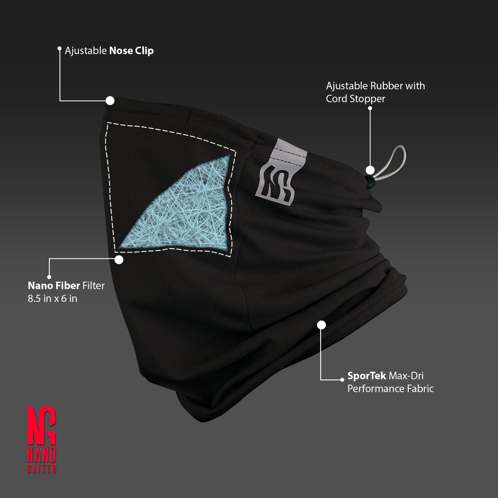 reusable gaiter masks - silver - made in USA