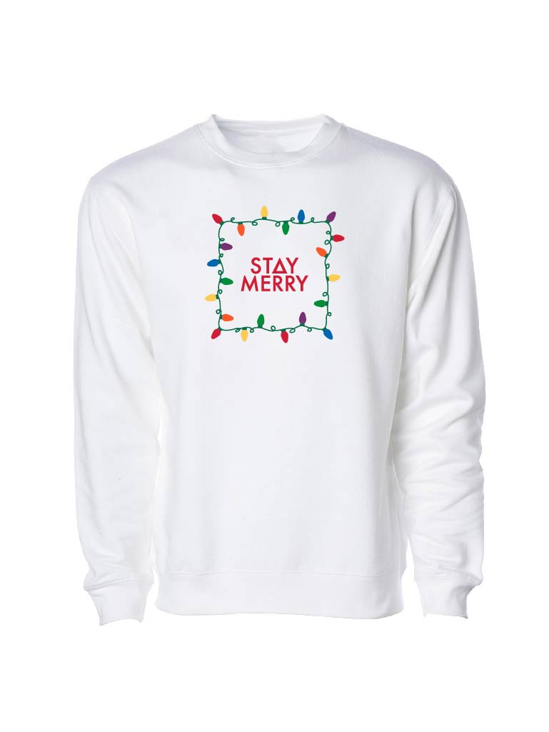 Stay Merry Sweatshirt - White