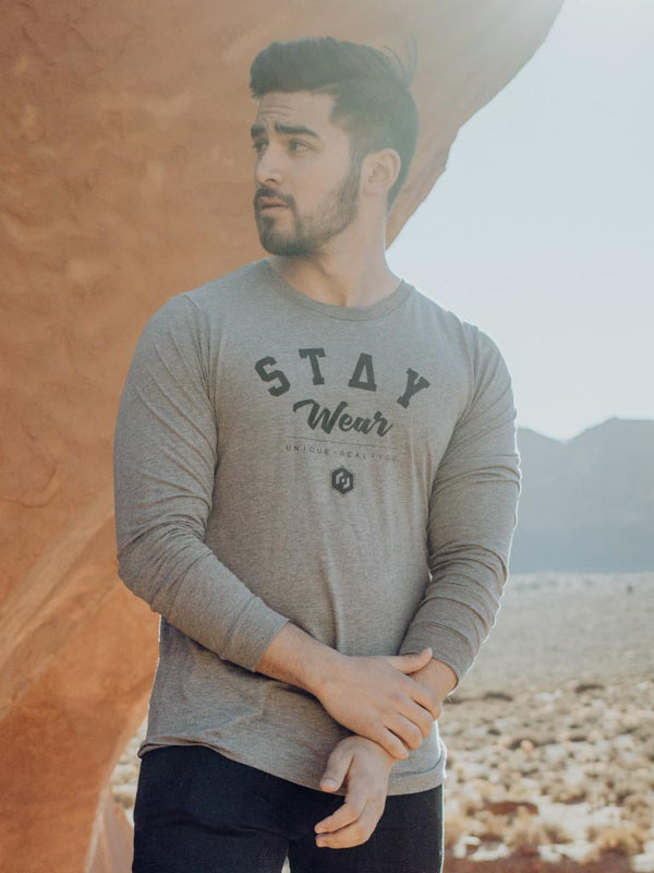 THE CLASSIC LONG SLEEVE - HEATHER GRAY (UNISEX)