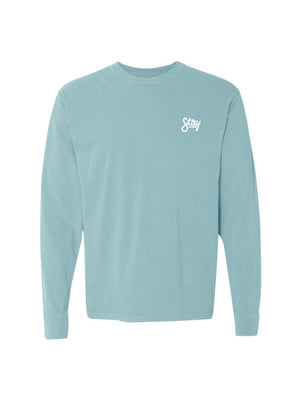 Cursive Long Sleeve - Chalky Mint
