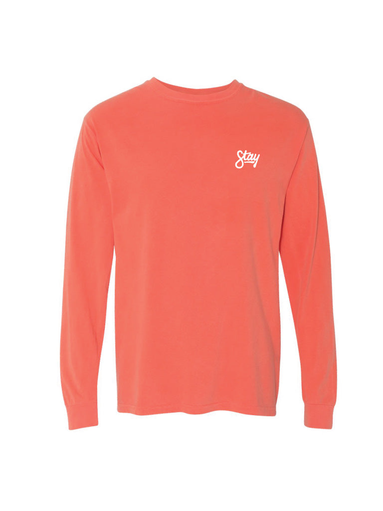 Cursive Long Sleeve - Coral