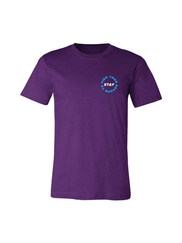 Find Your Reason Tee - Purple