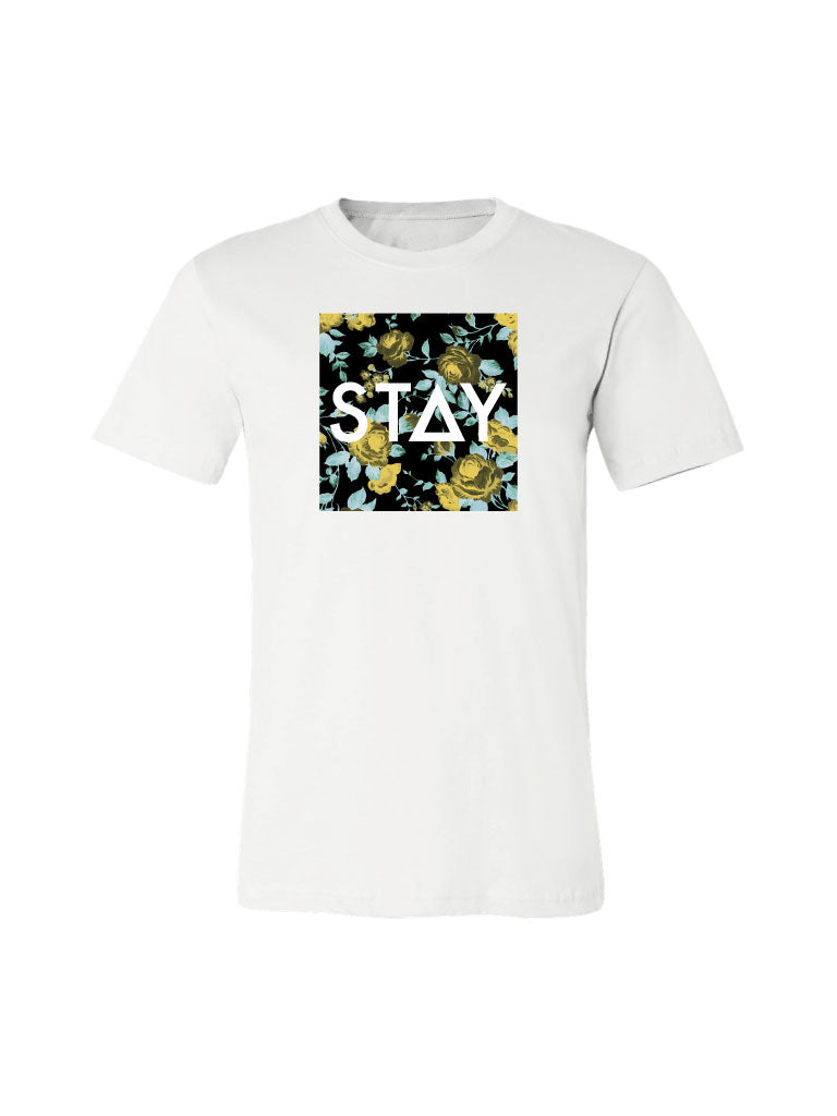 Floral Stay Tee - White