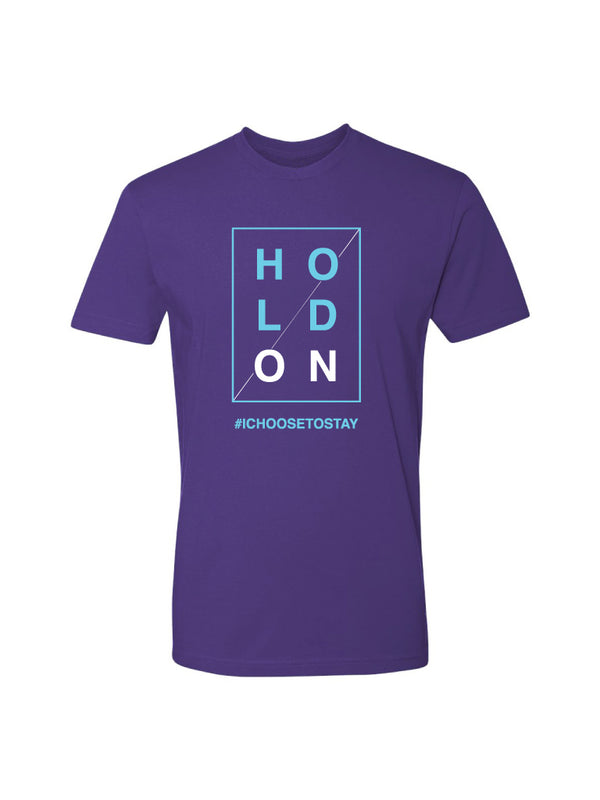 HOLD ON - PURPLE TEE