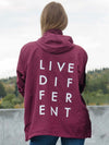 LIVE DIFFERENT WINDBREAKER - MAROON