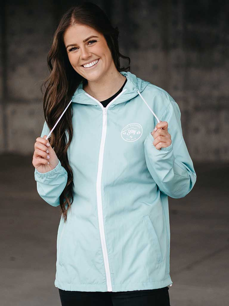 Live Different Windbreaker - Aqua