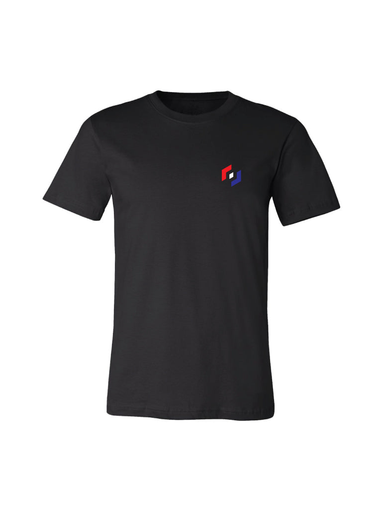 TRI COLOR ICON TEE - BLACK