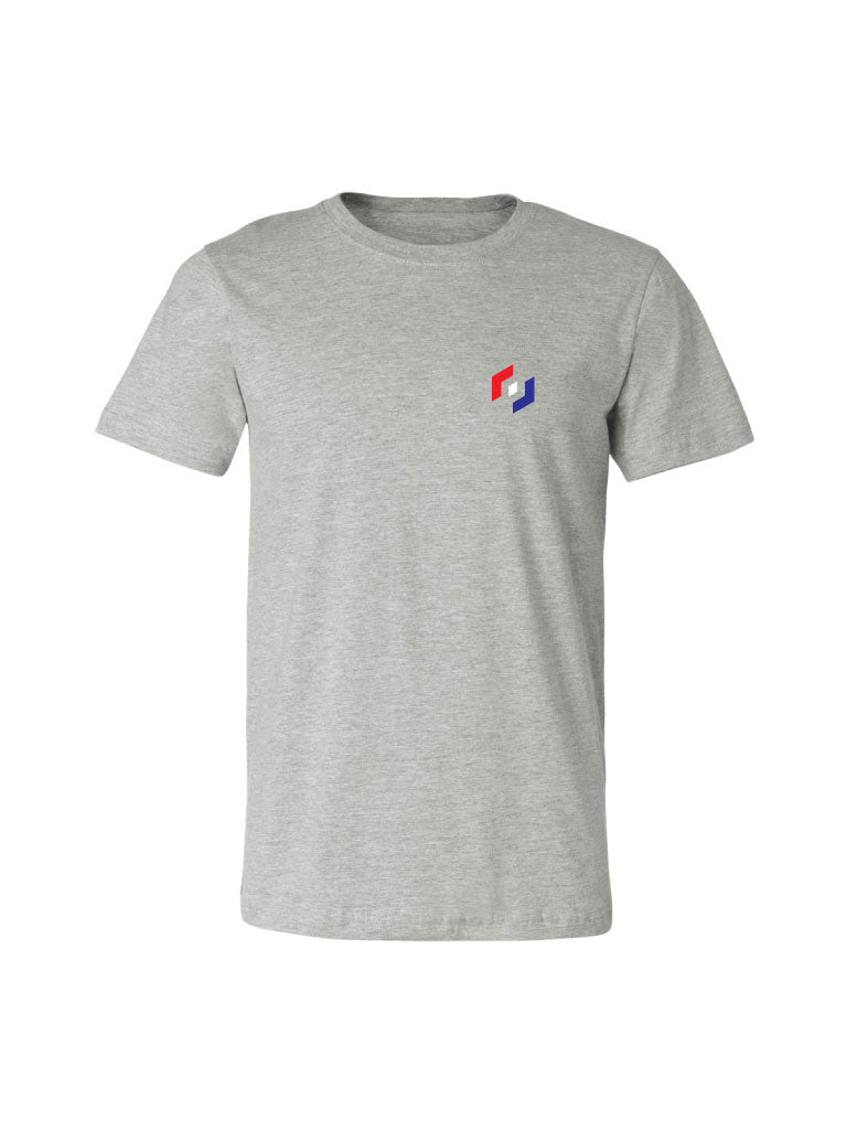 TRI COLOR ICON TEE - HEATHER