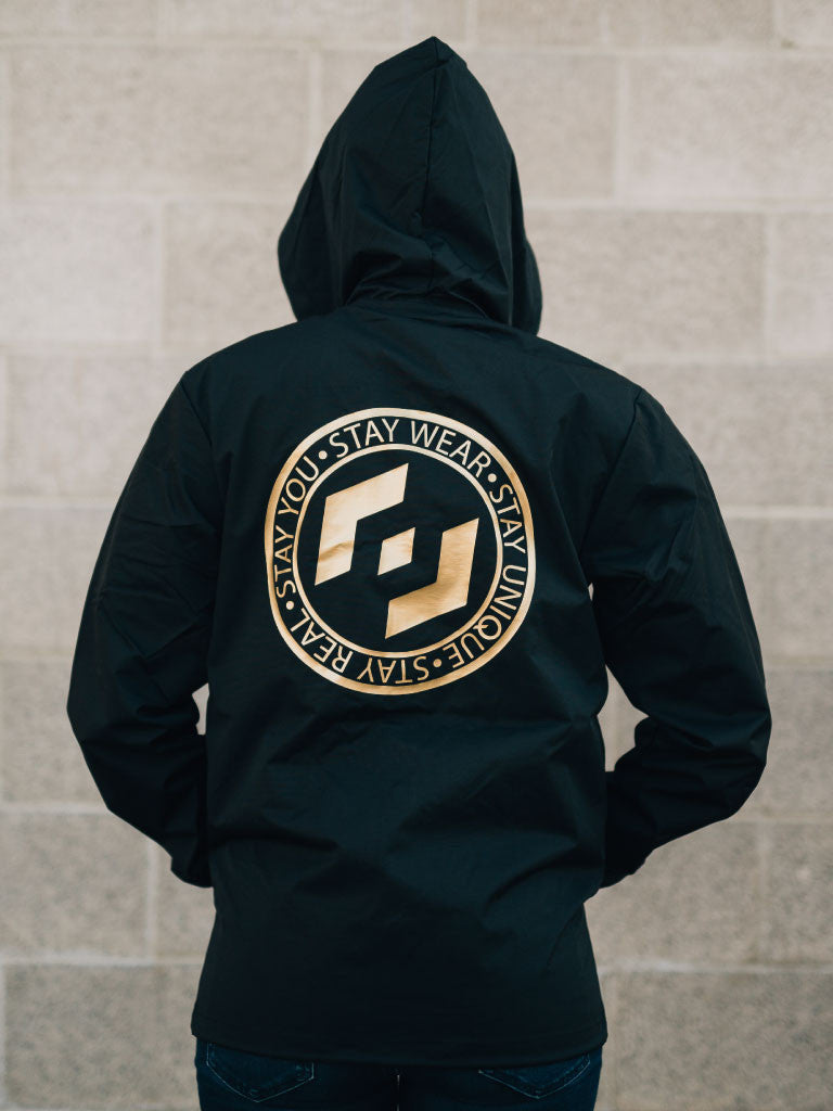 MOTTO WINDBREAKER - BLACK/GOLD