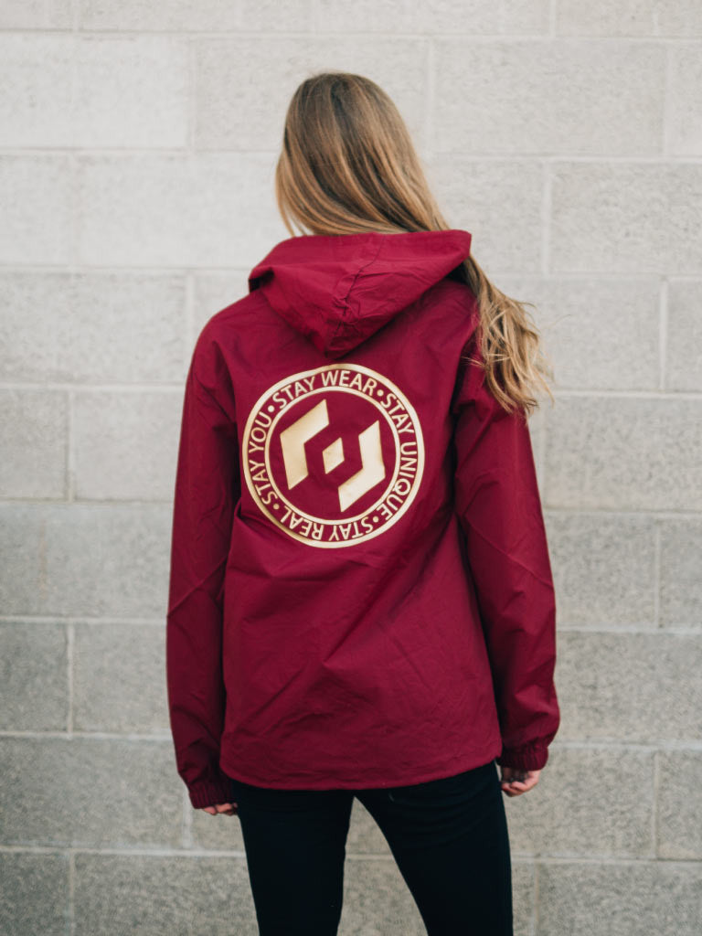 MOTTO WINDBREAKER - CARDINAL/GOLD