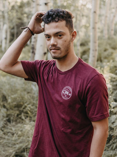 Nature Tee - Maroon