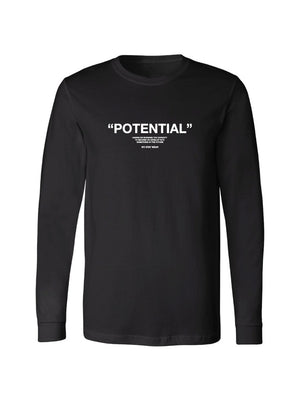 POTENTIAL LONG SLEEVE TEE - BLACK